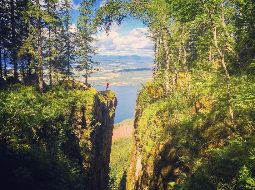 Utsikt fra Mørkgonga_Krokskogen_Oslomarka