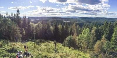 Panoramautsikt fra Røverkollen - Oslomarka - Lillomarka - Fantastiske marka