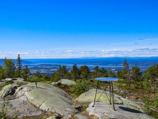 Utsikt over Tyrifjorden og Røyselandet fra Ringkolltoppen - Oslomarka - Krokskogen - Fantastiske marka