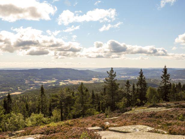 Utsikt fra Veslekollen - Oslomarka - Nordmarka - Fantastiske marka