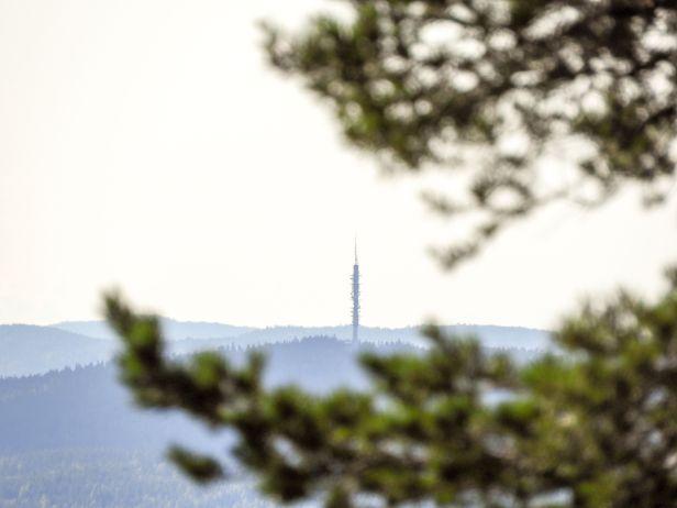Utsikt mot Røverkollen fra Veslekollen - Oslomarka - Nordmarka - Lillomarka - Fantastiske marka