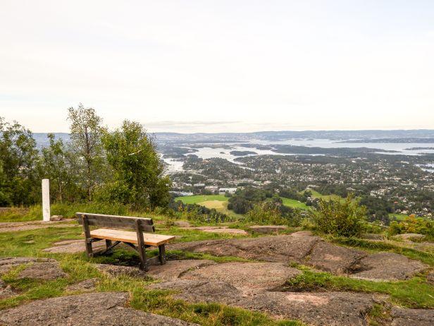 Utsikten fra Skaugumsåsen mot nordøst - Oslomarka - Vestmarka - Fantastiske marka