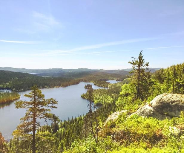 Utsikten fra Pershusfjellet mot sørøst - Oslomarka - Nordmarka - Fantastiske marka