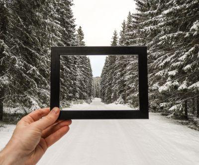 Bilde av skogsvei om vinteren - Oslomarka - Nordmarka - Fantastiske marka
