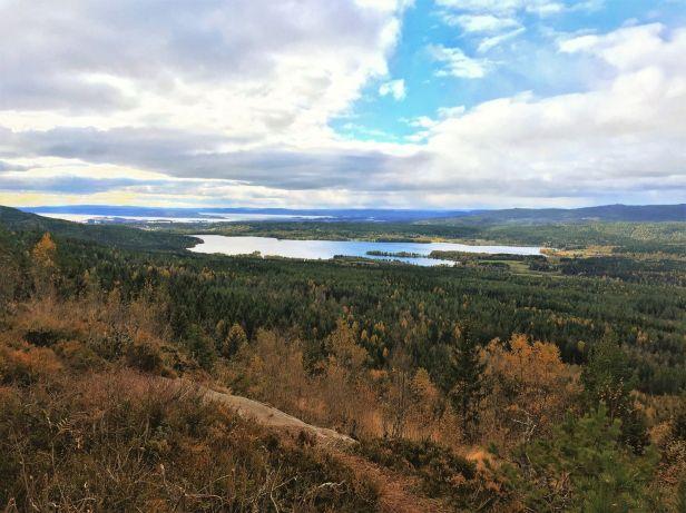 Utsikt over Maridalsvannet fra Barlindåsen - Oslomarka - Nordmarka - Fantastiske marka