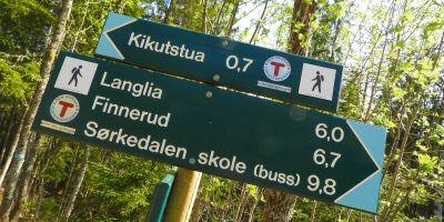 SKiltpost i Nordmarka - Oslomarka - Fantastiske marka