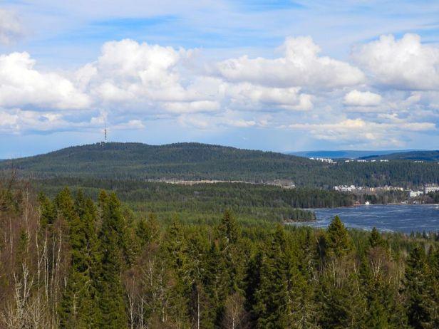 Utsikt mot Røverkollen og Alnsjøen fra Storhaug