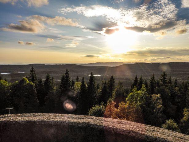 Utsikt fra tårnet på Røverkollen mot Tryvann - Oslomarka - Lillomarka - Fantastiske marka