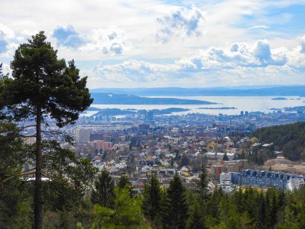Utsikt over Oslo fra Glassberget på Årvollåsen - Oslomarka - Lillomarka - Fantastiske marka