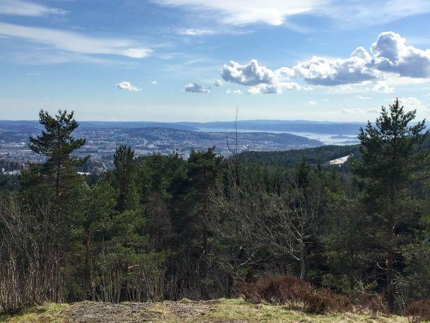 Utsikt over Oslo fra Storhaug - Oslomarka - Lillomarka - Fantastiske marka