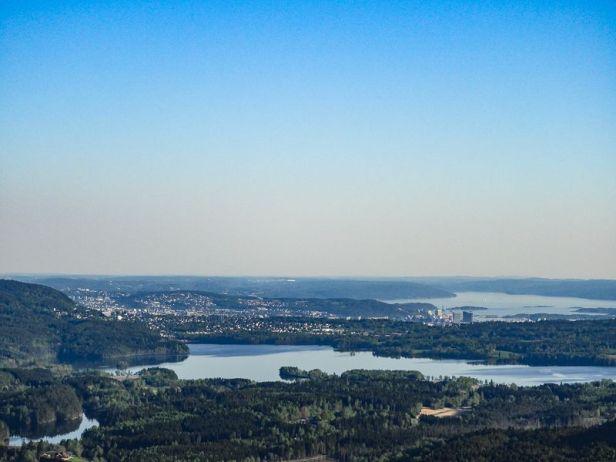 Utsikten fra Gaupekollen mot Oslo sentrum og Oslofjorden - Oslomarka - Nordmarka - Fantastiske marka