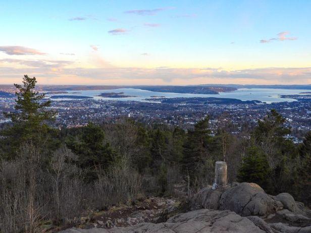 Utsikten fra Vettakollen over Oslo og Oslofjorden - Oslomarka - Nordmarka - Fantastiske marka