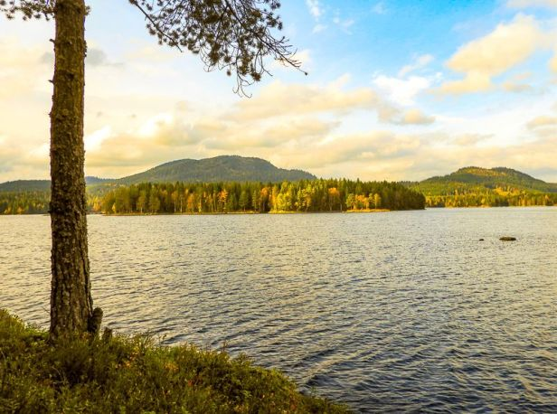 Bjørnsjøen med Kikut i horisonten - Oslomarka - Nordmarka - Fantastiske marka