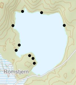 Teltplasser ved Romstjern - Oslomarka - Lillomarka - Fantastiske marka
