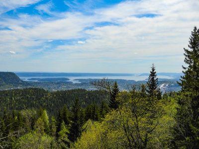 Utsikt fra Haugskollen mot Kolsåstoppene - Oslomarka - Krokskogen - Fantastiske marka