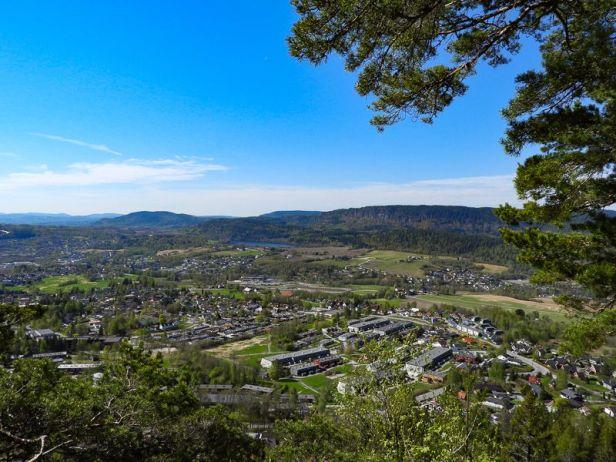 Utsikt mot Ramsås i Vestmarka - Oslomarka - Krokskogen - Fantastiske marka