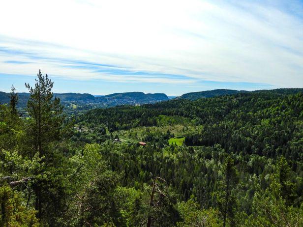 Utsikt over Lommedalen fra Solkollen - Oslomarka - Krokskogen - Fantastiske marka