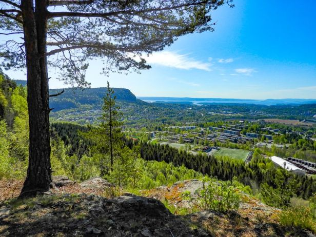 Utsikten fra Eineåsen - Oslomarka - Krokskogen - Fantastiske marka