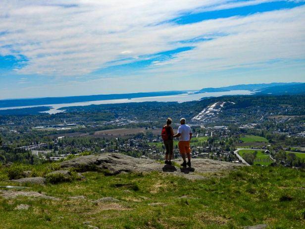 Utsikten mot Oslofjorden fra Solfjellstua - Oslomarka - Krokskogen - Fantastiske marka