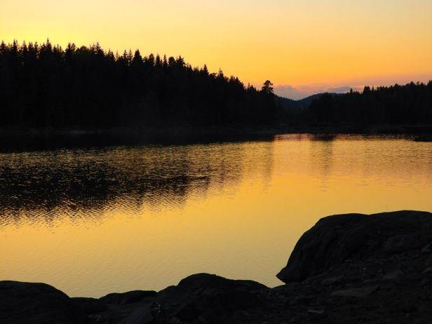 Solnedgang over Børtervanna - Oslomarka - Østmarka - Fantastiske marka