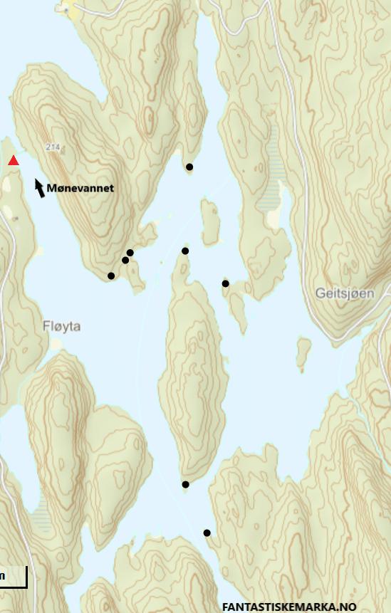 Teltplasser og hengekøyeplasser ved Fløyta i Losbyvassdraget - Oslomarka - Østmarka - Fantastiske marka