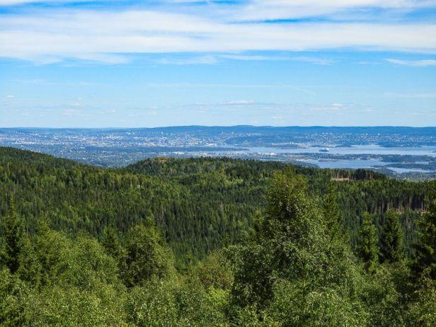 Utsikten fra Haveråsen mot Oslofjorden - Oslomarka - Vestmarka - Fantastiske marka