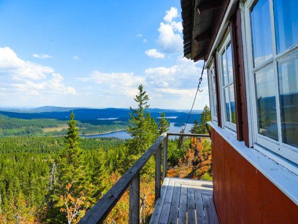 Brannvakthytta og utsikten fra Kjerkeberget - Oslomarka - Nordmarka - Fantastiske marka