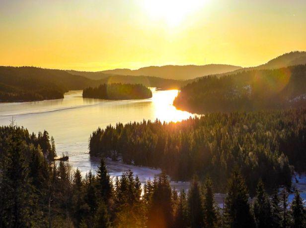 Utsikt over Hakkloa mot sør - Oslomarka - Nordmarka - Fantastiske marka