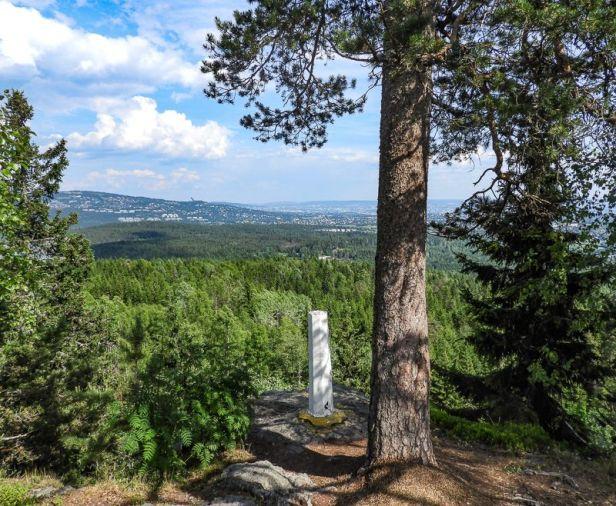 Utsikt fra Skutehøgda mot Østernvann - Oslomarka - Bærumsmarka - Fantastiske marka