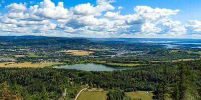 Utsikt mot Kolsåstoppen og Oslofjorden fra Ramsås - Oslomarka - Vestmarka - Fantastiske marka