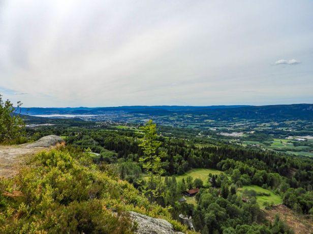 Utsikt over Lierdalen mot Drammen fra Glasåsen - Oslomarka - Vestmarka - Fantastiske marka