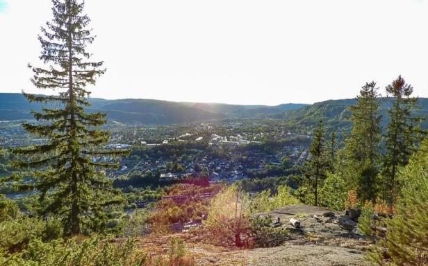 Utsikt over Rykkin fra Kløverkollen - Oslomarka - Bærumsmarka - Fantastiske marka