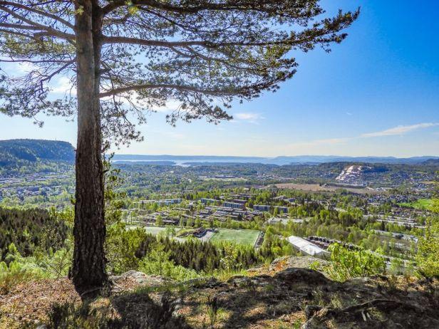 Utsikt over Rykkin og Vøyen fra Eineåsen - Oslomarka - Krokskogen - Fantastiske marka