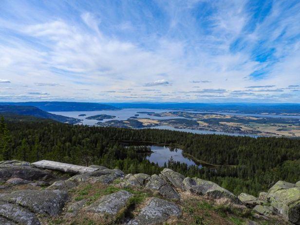 Fantastisk utsikt fra Gyrihaugen - Oslomarka - Krokskogen - Fantastiske marka
