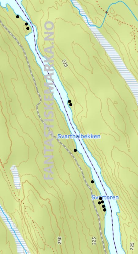 Leirplasser teltplasser hengekøyeplasser - Svartoren midtre - Oslomarka - Østmarka - Fantastiske marka
