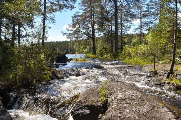 Midtelva mellom Kirkebygjermenningen og Gjerdrumsgjermenningen - Oslomarka - Romeriksåsene - Fantastiske marka