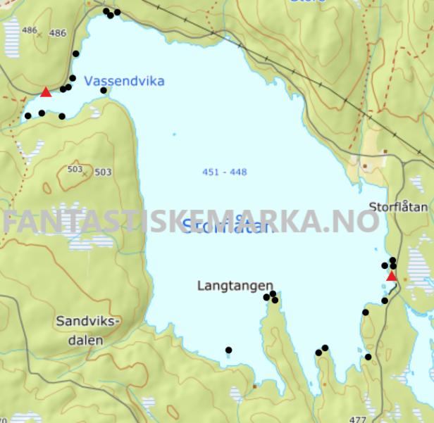 Teltplasser hengekøyeplasser leirplasser på Storflåtan - Oslomarka - Krokskogen - Fantastiske marka