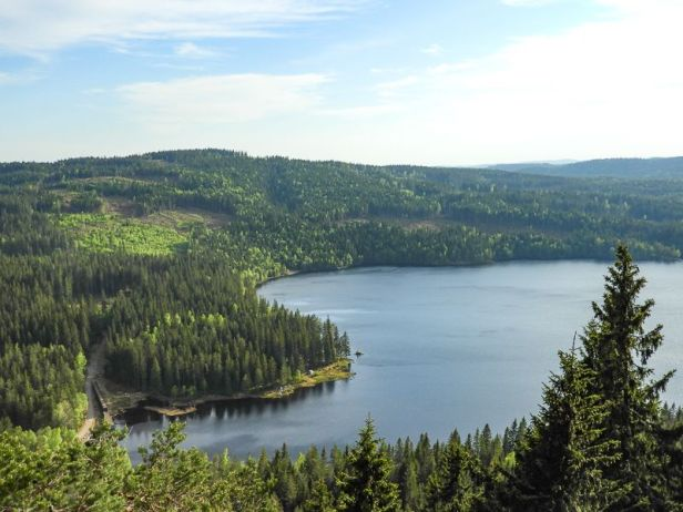 Utsikten fra Øyungskollen over Øyungen - Oslomarka - Nordmarka - Fantastiske marka
