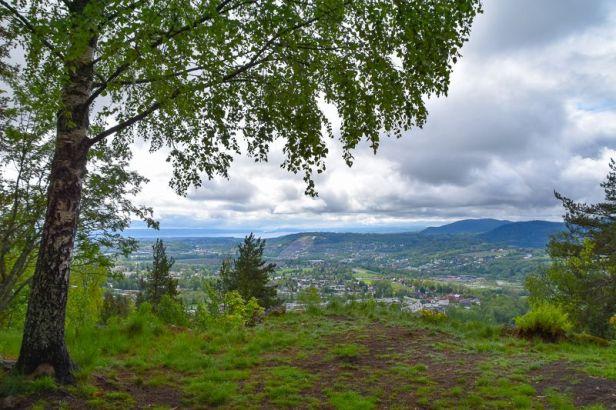 Utsikten fra gapahuken Kikkut på Eineåsen - Oslomarka - Krokskogen - Fantastiske marka