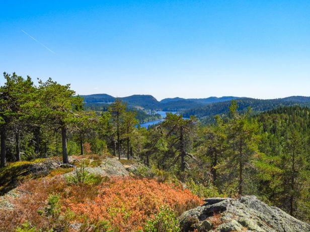 Utsikten mot sør over Søndre Heggelivann fra Gråberget - Oslomarka - Krokskogen - Fantastiske marka