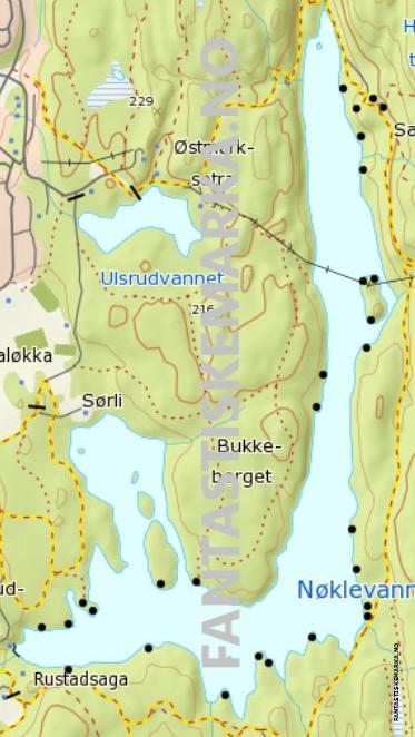 Leirplasser ved Nøklevannet i Østmarka - Oslomarka - Fantastiske marka