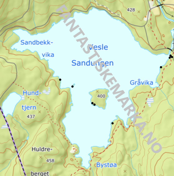 Leirplasser - Vesle Sandungen - Oslomarka - Nordmarka - Fantastiske marka