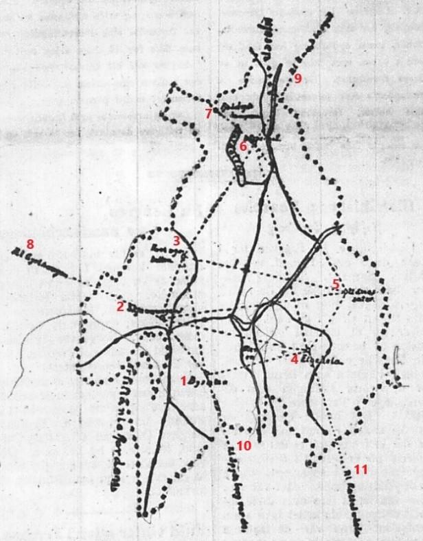 Kart over planene for systematisk skogbrannovervåking i Akershus - Morgenbladet - 21041923