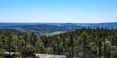 Utsikt fra Blåfjell mot Håøya og Oslofjorden - Kjekstadmarka - Oslomarka - Fantastiske marka
