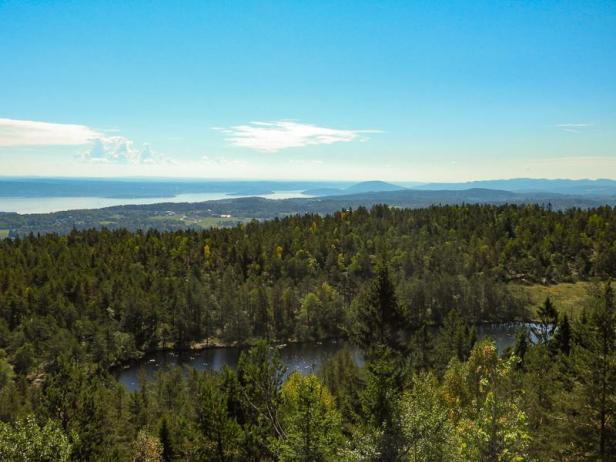 Utsikt over Oslofjorden fra Vardåsen - Kjekstadmarka - Oslomarka - Fantastiske marka