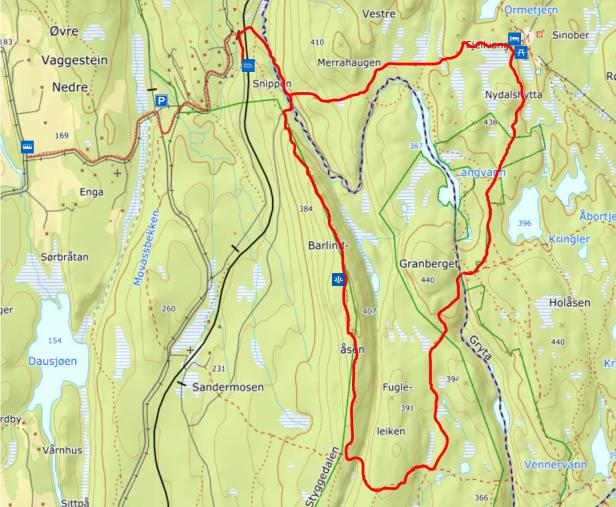 Turkart - Barlindåsen til Fjellvang - Maridalen - Oslomarka - Lillomarka - Fantastiske marka