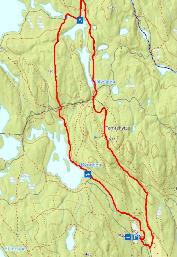 Turkart - Skar til Gørjahytta - Maridalen - Oslomarka - Nordmarka - Fantastiske marka